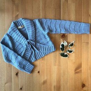 Zara NWOT tie-front sweater